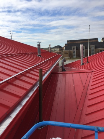 Standing seam industrial roof