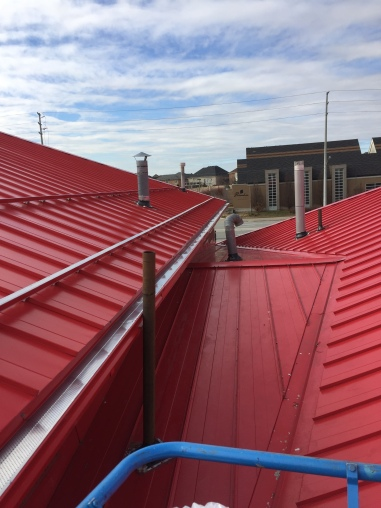 Standing seam industrial roof
