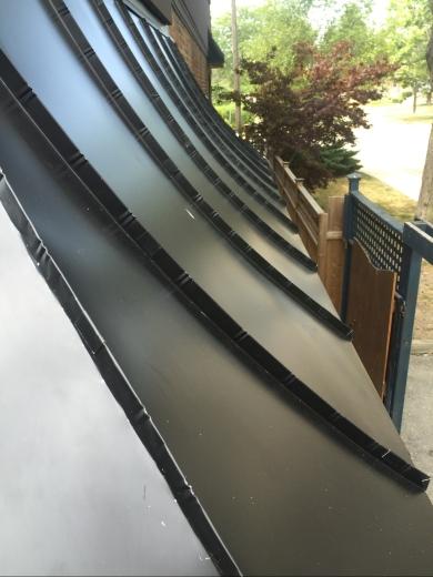 Aluminum standing seam roof