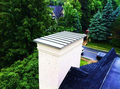 Custom chimney aluminum seams