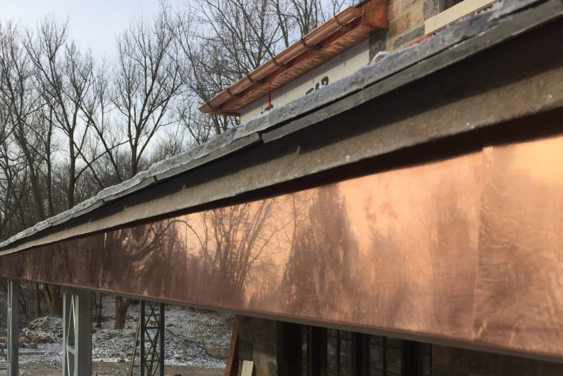 copper half-round eaves/gutters
